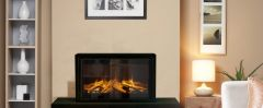 Evonic Fires EV8S Electric Stove + Bench