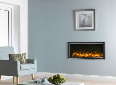 Infinity 4D Eco Flame E890 Built In Electric Fire + Elite Chrome Frame