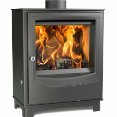 Arada Farringdon Medium 8kW Eco Design 2022 Grey Wood Burning Stove Log Burner
