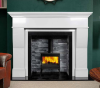The Estada Marble Fireplace Surround Polished Polar White
