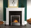 The Naxos Marble Fireplace Polished Polar White