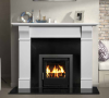 The Tara Marble Fireplace Surround Polished Polar White