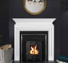 The Wallace Marble Fireplace Surround Polished Polar White