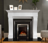 The Winchester Marble Fireplace Surround Polished Polar White