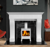 The Windsor Marble Fireplace Surround Polished Polar White