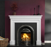The Celeste Marble Fireplace Surround Polished Polar White