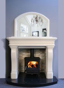 Carlingford Marble Fireplace Ivory Cream