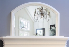 Marble Fireplace Overmantle Mirror Ivory Cream