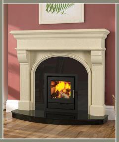 Newbridge / Monte Carlo Marble Fireplace Ivory Cream