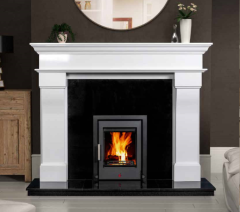 The Bordeaux Marble Fireplace Surround Polished Polar White