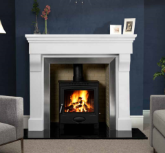 The Cabra Marble Fireplace Surround Polished Polar White