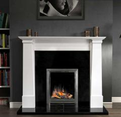 The Cruz / Oslo Marble Fireplace Surround Polished Polar White
