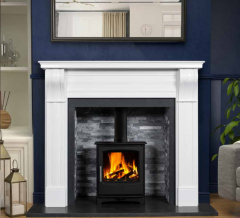 The Dublin Corbel Marble Fireplace Surround Polished Polar White