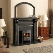 The Dublin Corbel Black Granite Fireplace Surround