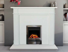 The Ferrera Limestone Fireplace Surround