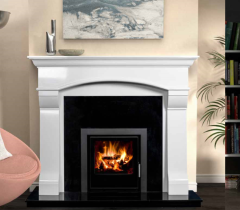 The Virgo Marble Fireplace Surround Ivory Cream