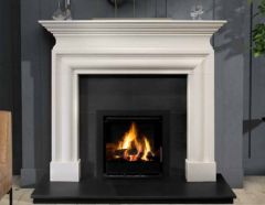 The Wallace Limestone Fireplace Surround