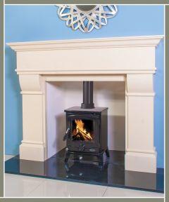 Valentino Marble Fireplace Ivory Cream