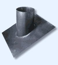 30 Degree Lead Weathering Chimney Flashing Tray / Slate Roof Twin Wall Flue System [150mm]