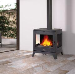 Bronpi Bury 4.6kw 3 Sided Glass Multi Fuel + Wood Burning Stove