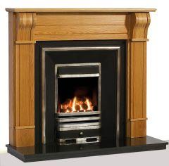 The Dublin Corbel Solid Oak Wooden Fireplace