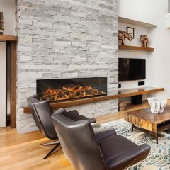 Evonic e1500GF Electric Inset Built In Mounted Electric Fire - Single Side
