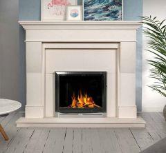 Estada Marble Fireplace Ivory Cream