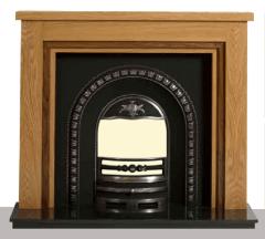 The Houston Solid Oak Wooden Fireplace