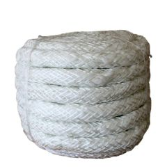 25mm Soft White Glass Fibre Lagging Rope Quality Rope Seal - Per Metre