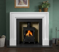 The Continental Fireplace Surround Polar White Marble
